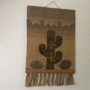 Other - Southwestern Boho Cactus Tapestry with Tassels